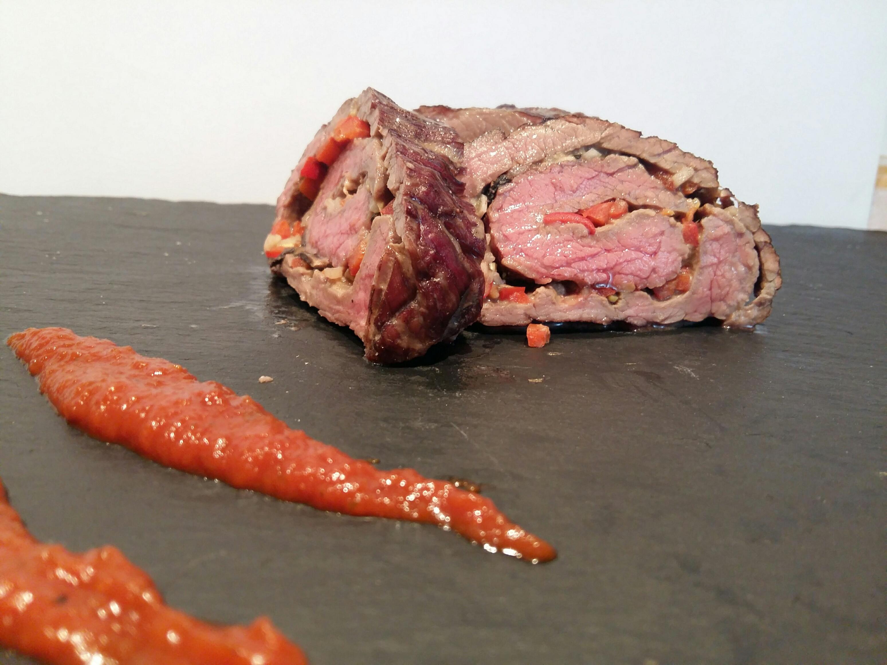 Flank Steak Roll Rezept zum Grillen