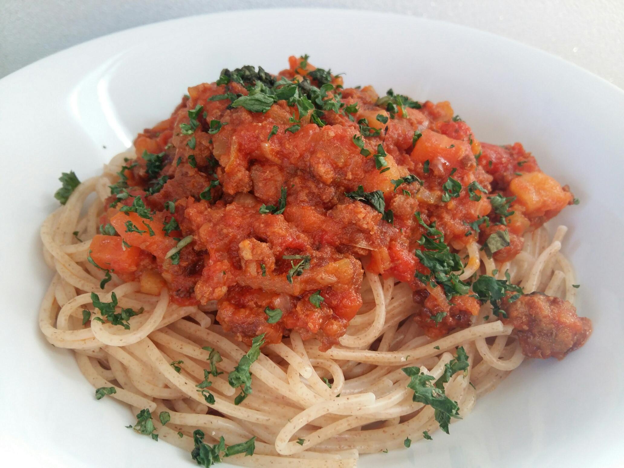 Spaghetti Bolognese aus der Tüte? NIEMALS!