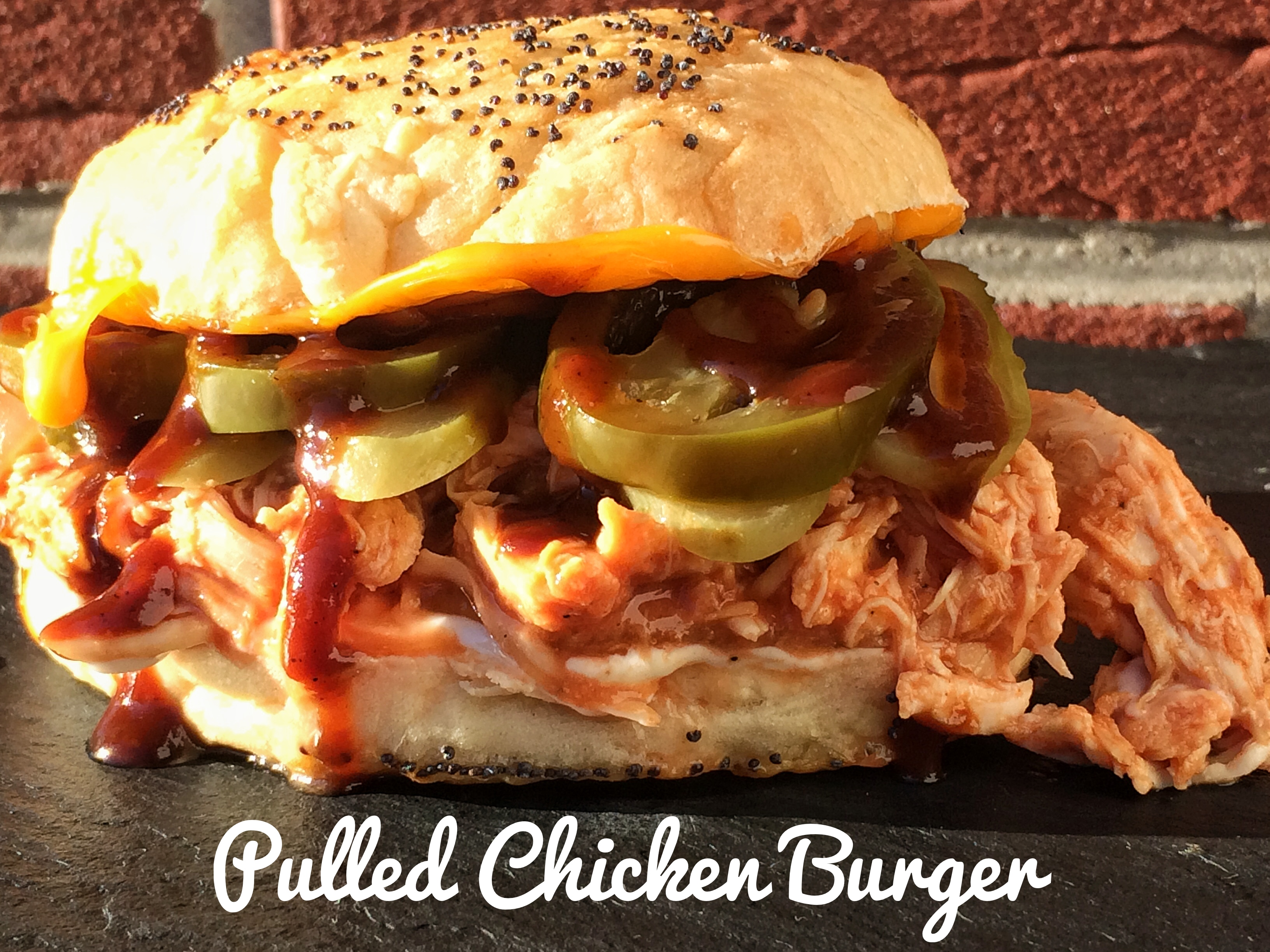 Pulled Chicken Burger, yuuumy