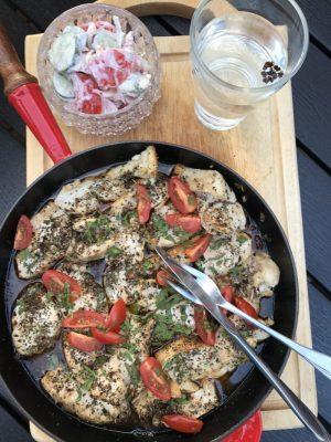 Hähnchenbrust an Tomaten, leichtes Pfannengericht WW tauglich