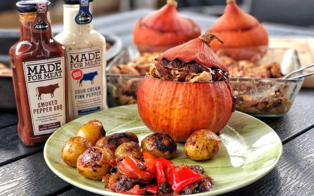 Kürbis mit Pulled Pork, köstliches Herstgericht