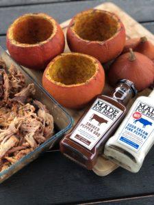 Kürbis mit Pulled Pork- Kühne made for meat